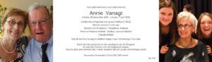Annie Vanagt (mijn mama)